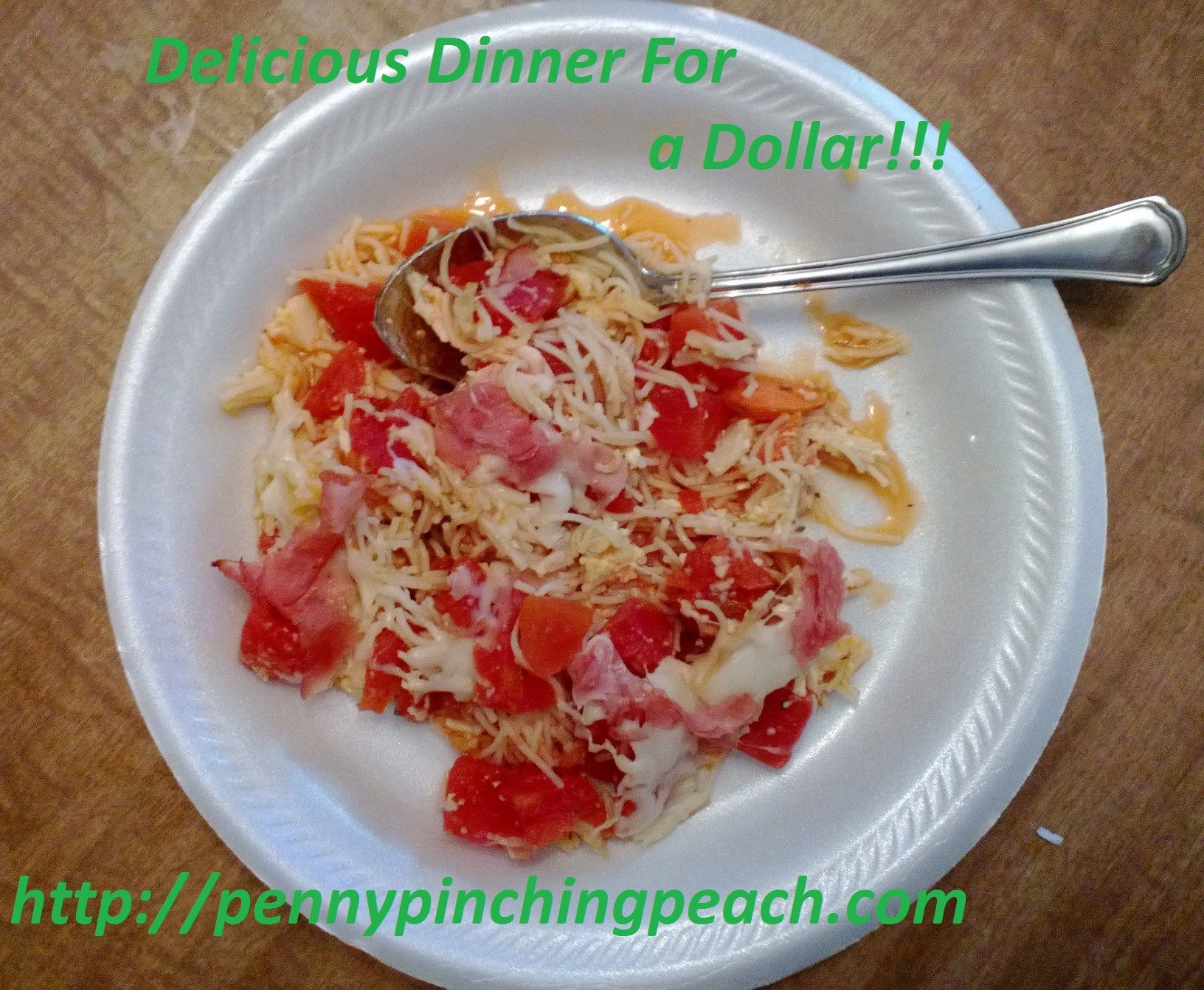 """Dinner for a dollar?!?""  they exclaim, ""It can't be done!!"". Let me tell ya, honey, it most certainly can! Tonight I made this delicious pasta dish for less than a dollar. It fed my five year old,..."