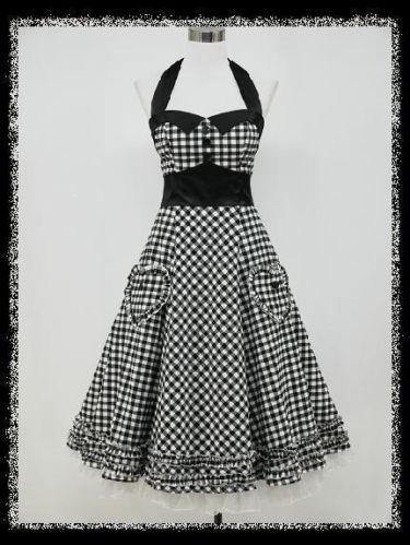 dress190 CHECK 50s 60s ROCKABILLY VINTAGE PINUP SWING PROM PARTY DRESS 8-26   eBay