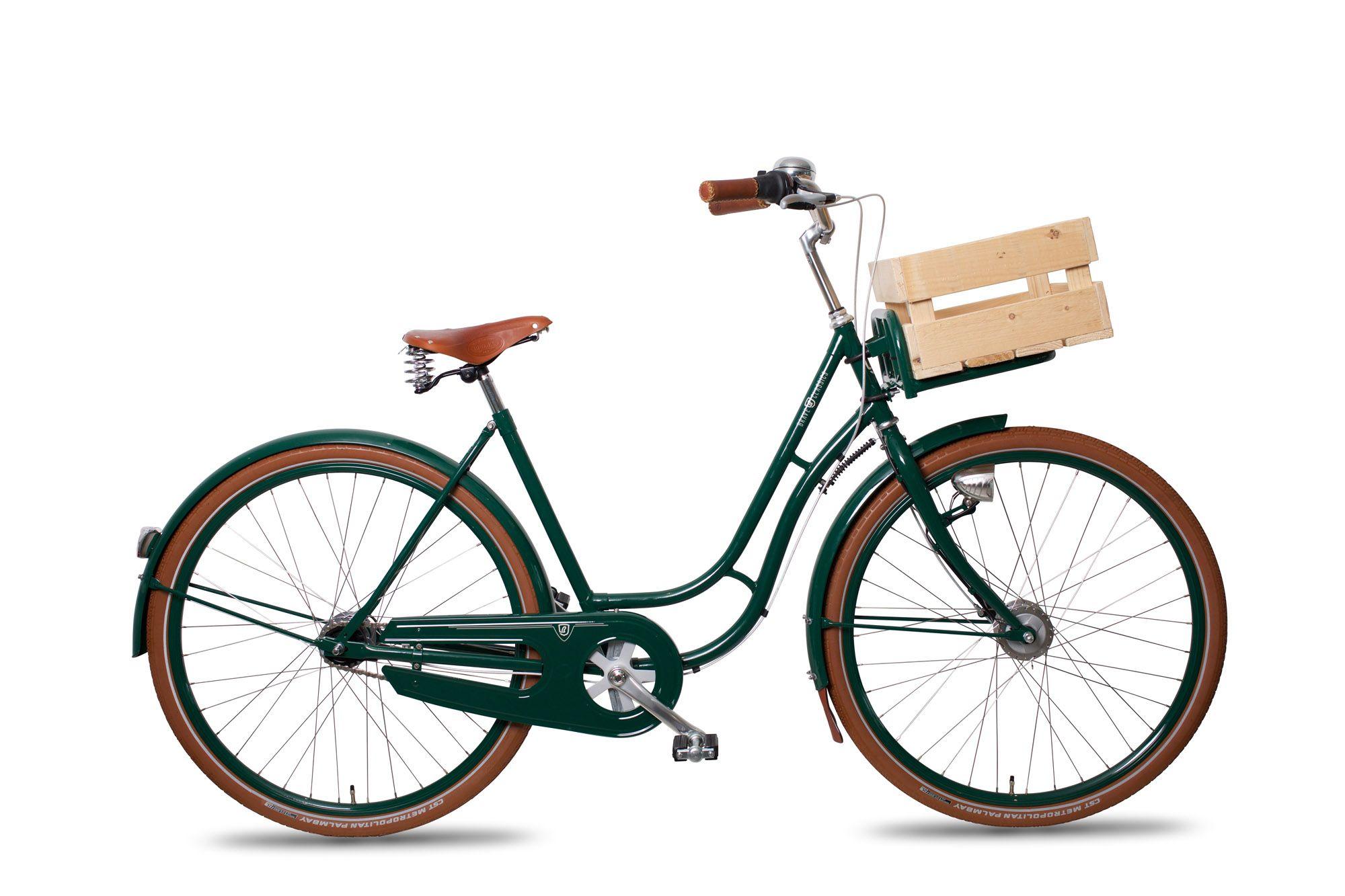 unser Brave Classics Berlin Damenfahrrad im klassischen grün/braun ...