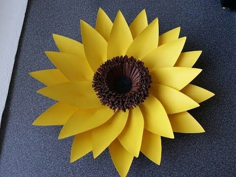 How To Make Adele Giant Paper Flower Sunflower Daydream Giant
