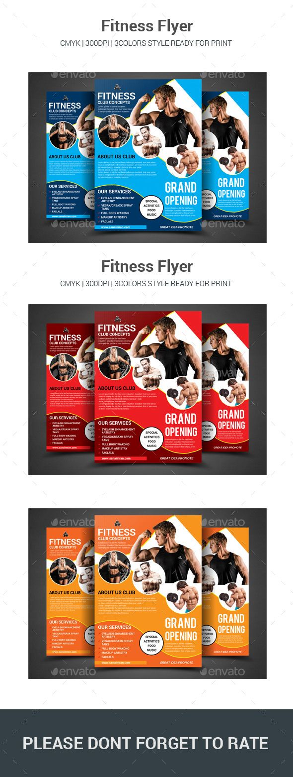 Fitness Flyer  Flyer Printing Flyer Template And Template