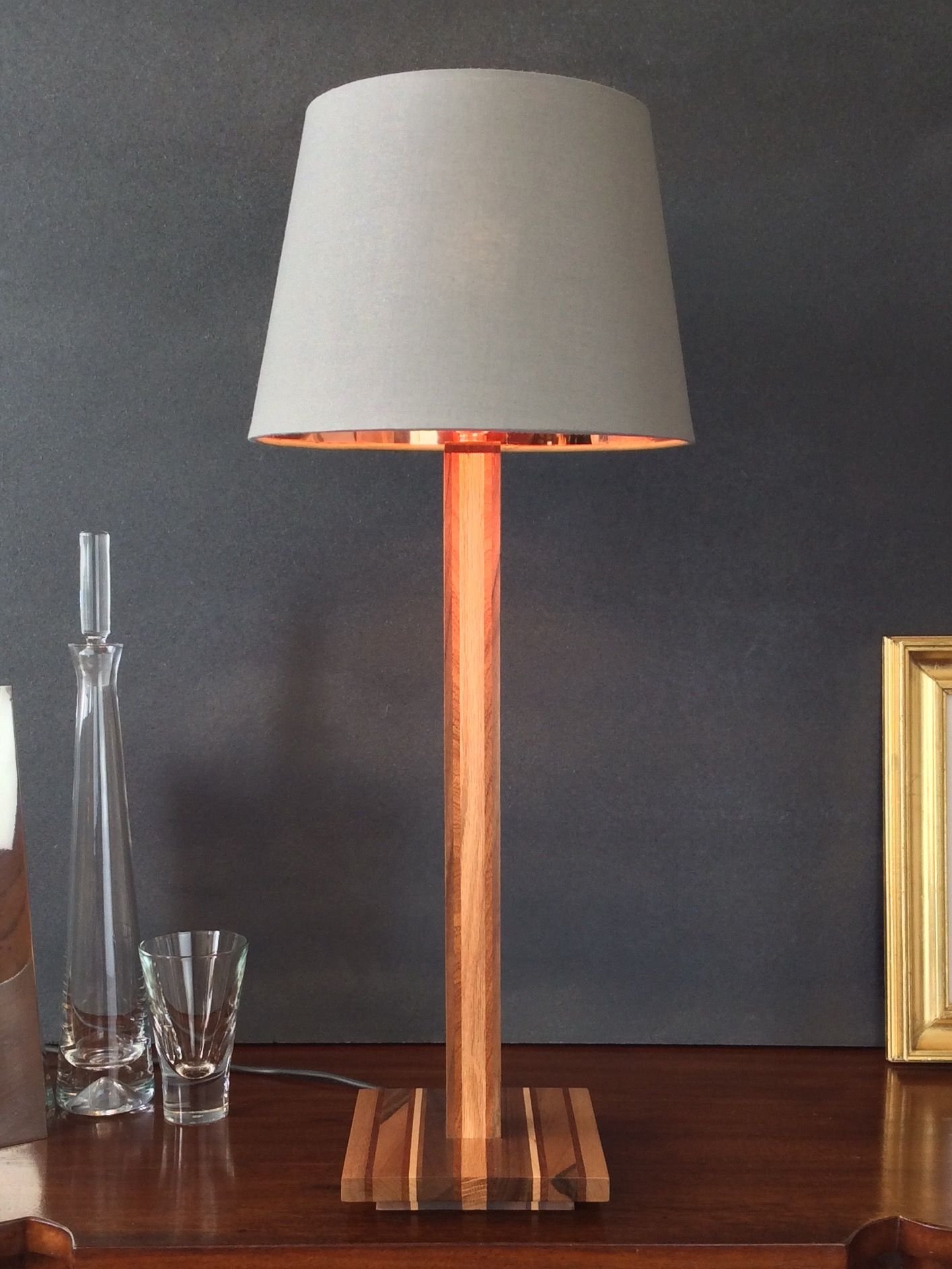 Club table lamp from pglampmaker tablelamp lighting walnut oak club table lamp from pglampmaker tablelamp lighting walnut oak maple mahogany desk wood wooden geotapseo Choice Image