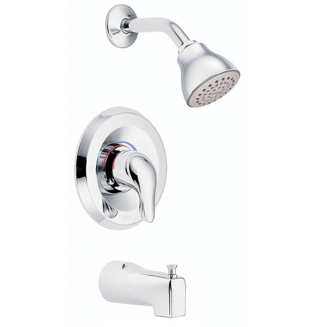 Moen Chateau Bathtub And Shower Faucet Chrome Finish Rona Ca 115 Shower Faucet Tub Shower Faucets Shower Tub