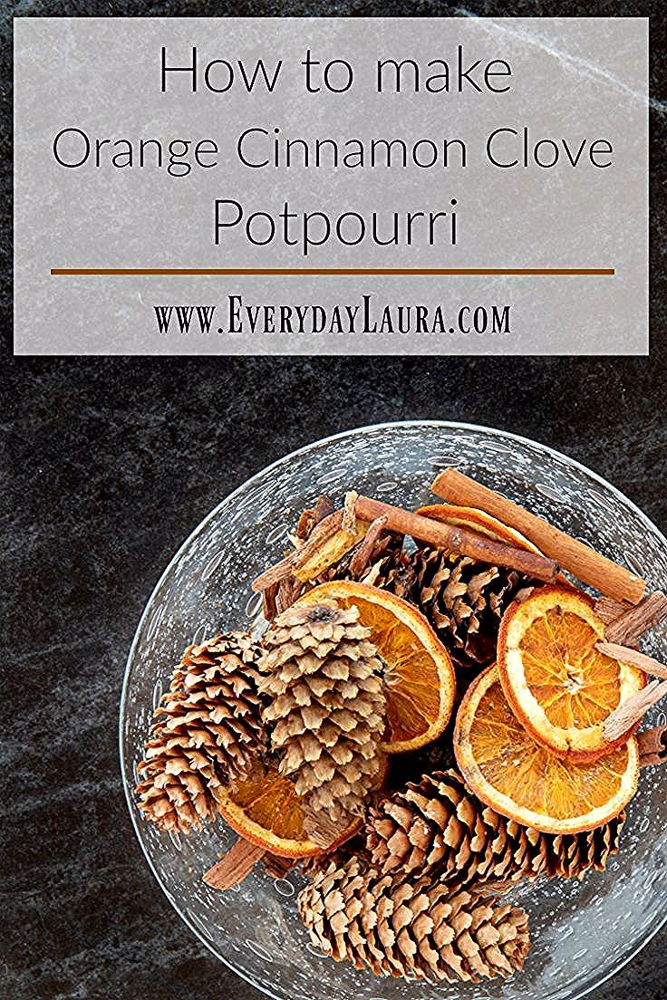 Make your home smell incredible by making your own orange cinnamon clove potpourri. It's budget friendly and makes a great gift too. #holidaygifts #holidaydecor #diy #christmasgifts #budgetdiyhomedecor #budgetholiday #potpourri #fallhomedecor #christmasdecor