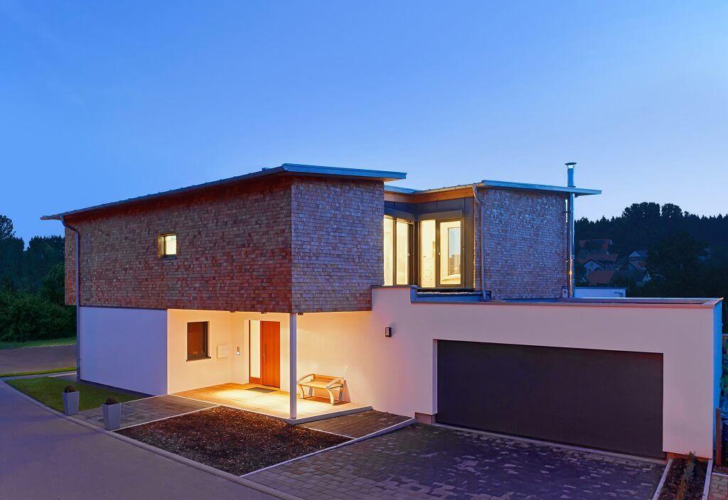 Designhaus Bullinger - Baufritz -   wwwhausbaudirektde/haus - cortenstahl innenbereich ideen