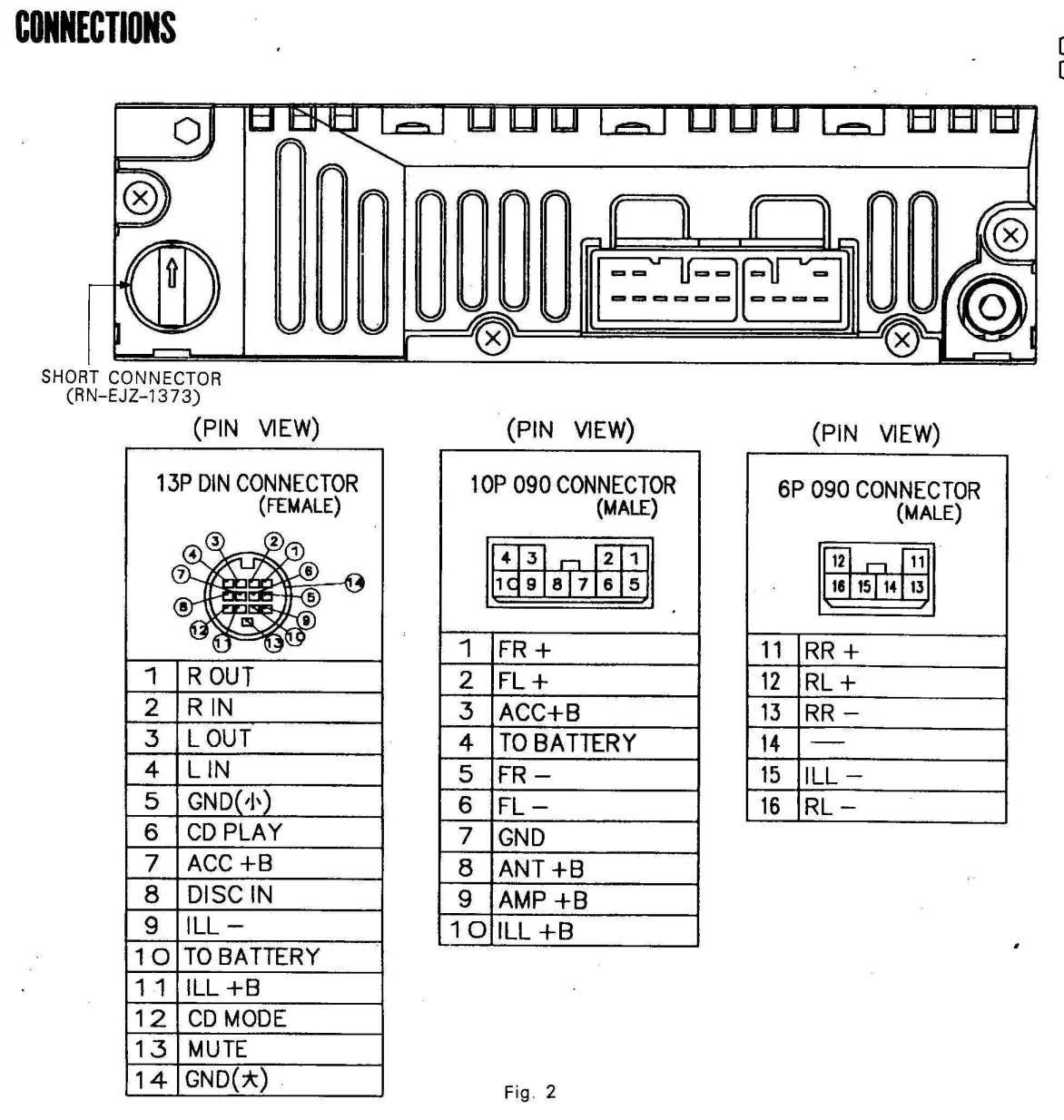 2 Din Car Stereo Wiring Diagram