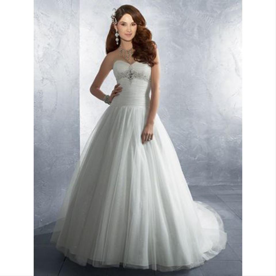 White Style 2186 Modern Wedding Dress Size