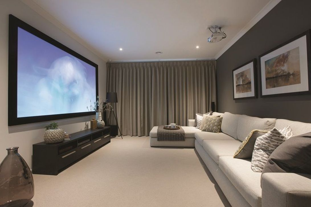 50 Contemporary Home Design Ideas For Living Room Sweetyhomee Home Cinema Room Living Room Theaters Home Theater Rooms