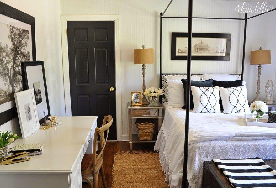Black doors, white trim