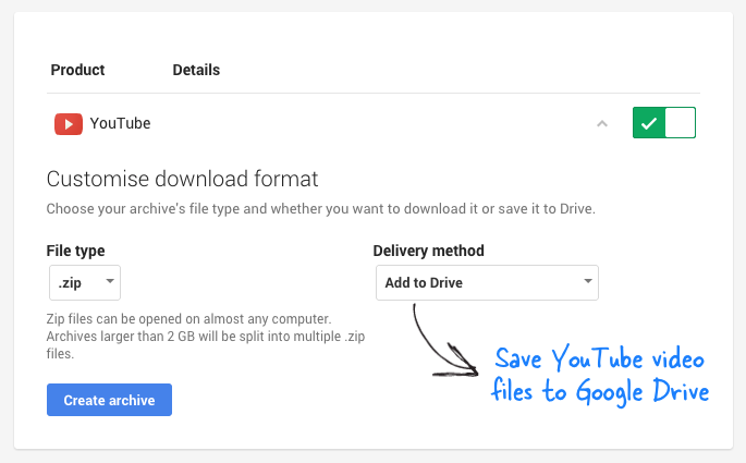 Save your youtube videos to google drive google drive save your youtube videos to google drive ccuart Choice Image