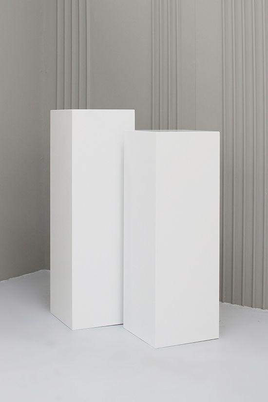 White Wooden Plinths Display Amp Exhibition Plinths
