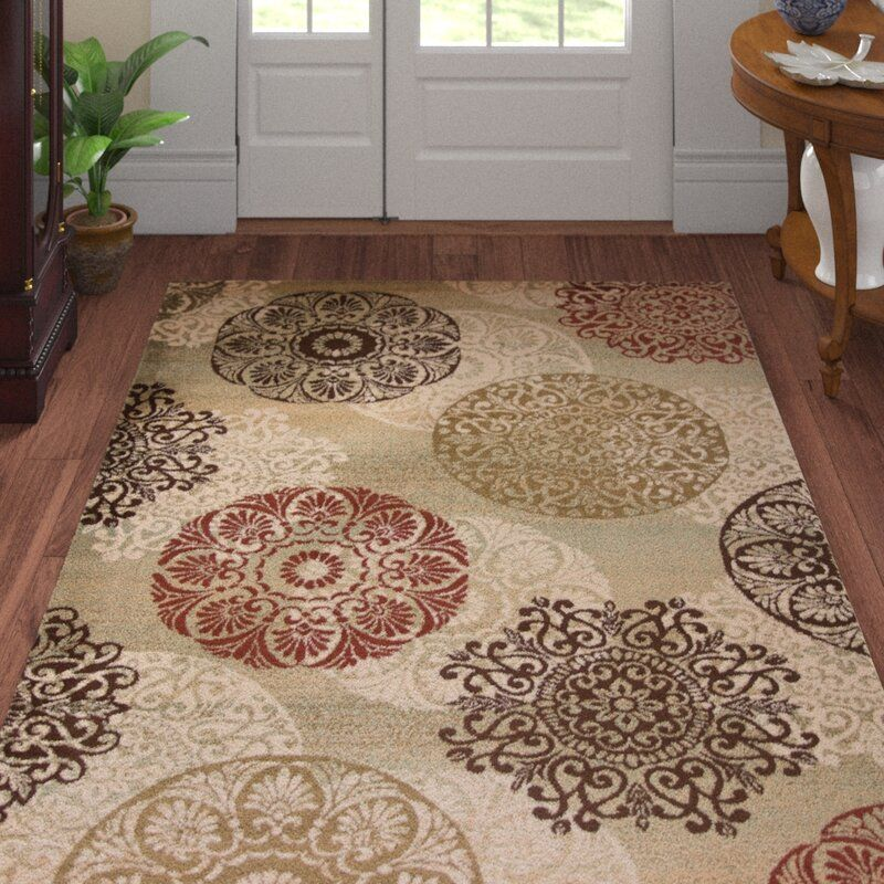 Andover Mills Ansley Floral Beige Brown Red Area Rug Ad Aff Sponsored Ansley Mills Beige Floral Red Rugs Rugs Brown Living Room Decor