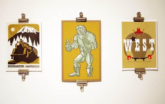 Bull dog clip wall hanger. Coat hangers hanging art. How to hang art ...