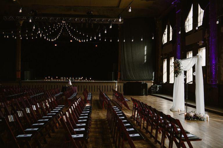 Moody Downtown Milwaukee Wedding At Turner Hall Cheap Wedding Venues Inexpensive Wedding Venues Ballroom Wedding