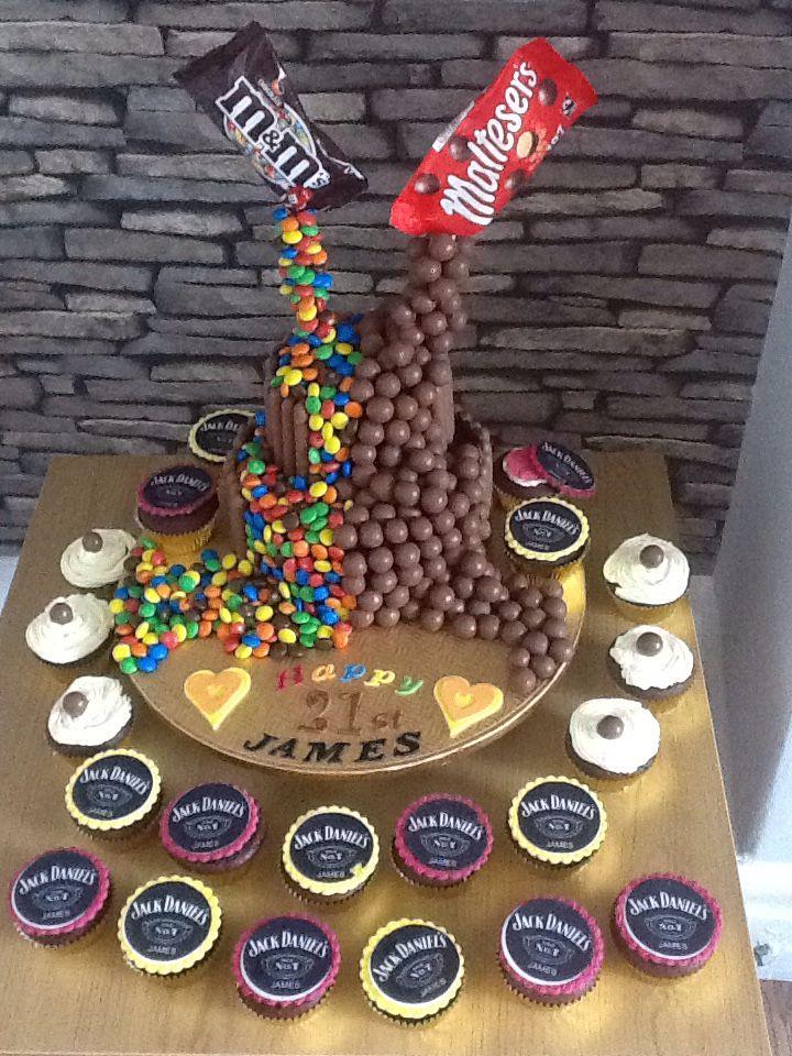 2 Tier Malteser And M Amp M Gravity Cake For Male 21st