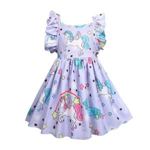 Girls Halloween Backless rainbow pony princess dress baby girl christmas Children Cartoon Floral Party Birthday kids dresses #babygirlpartydresses