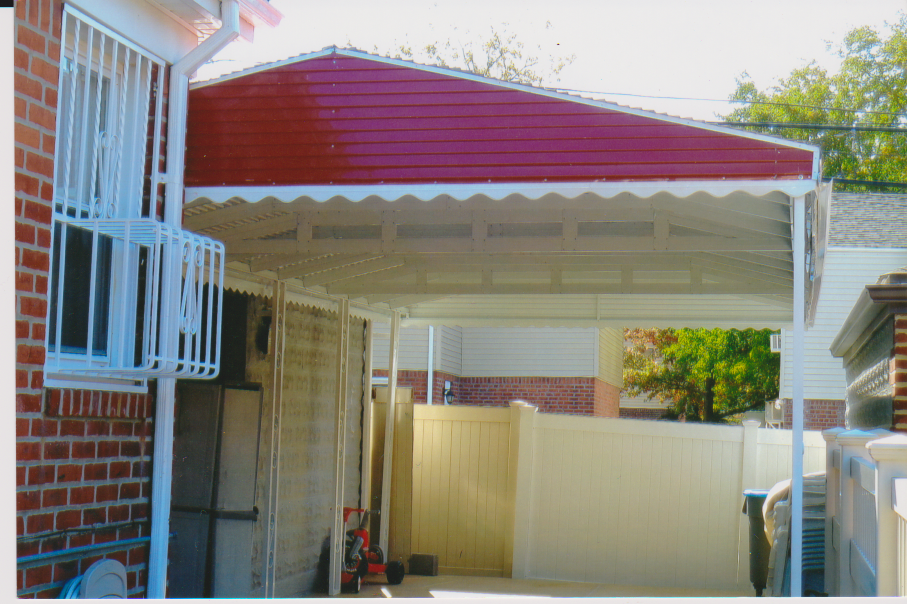 Aluminum Home Awning Carport By Elite Awning In Brooklyn New York 718 916 1265 Free Estimate House Awnings Awning Awning Canopy