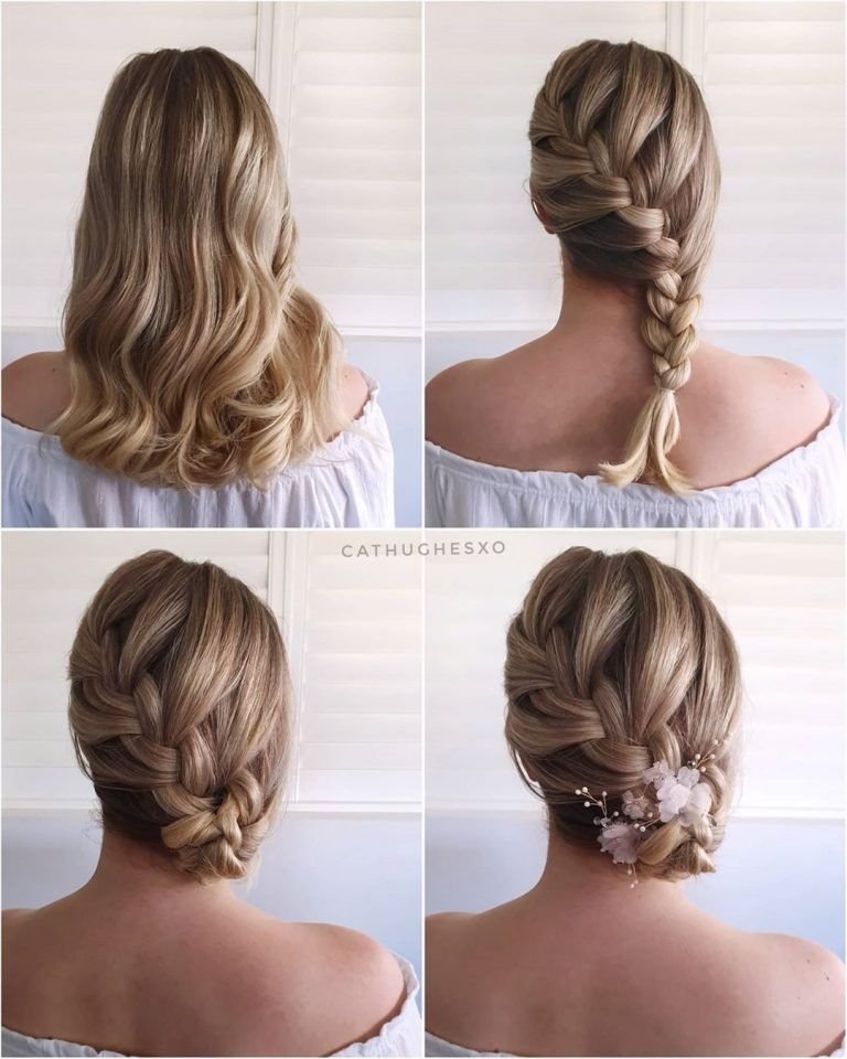 Simple And Pretty Side Fishbone Braid Diy Updo Hairstyle Tutorials For Wedding Gu Updo Hairstyles Tutorials Braided Hairstyles For Wedding Hair Updos Tutorials