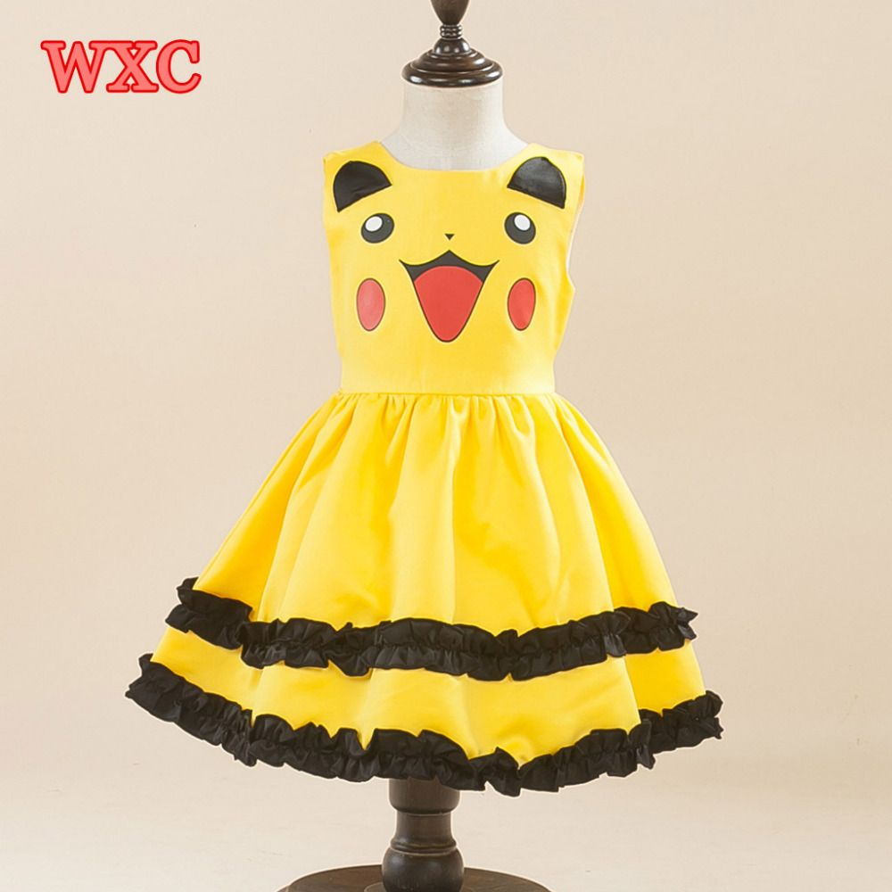 Click to buy ucuc pikachu girls dress costume kawaii little girls