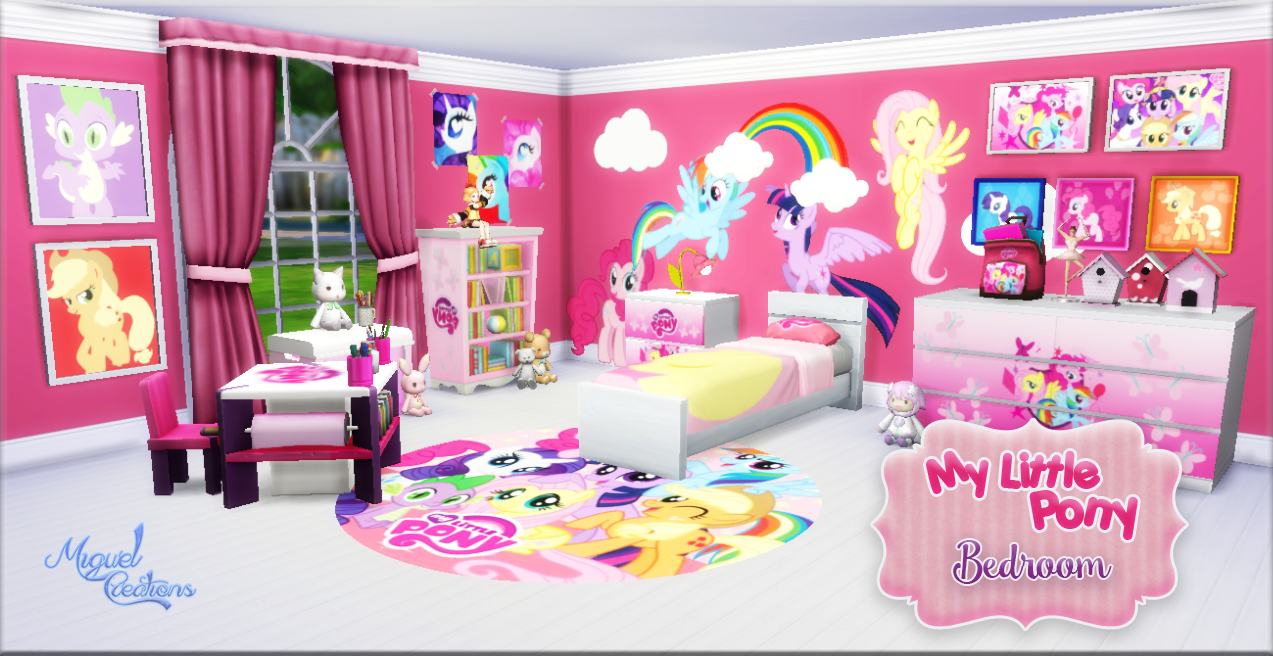 miguel creations ts4 bedroom my little pony mes