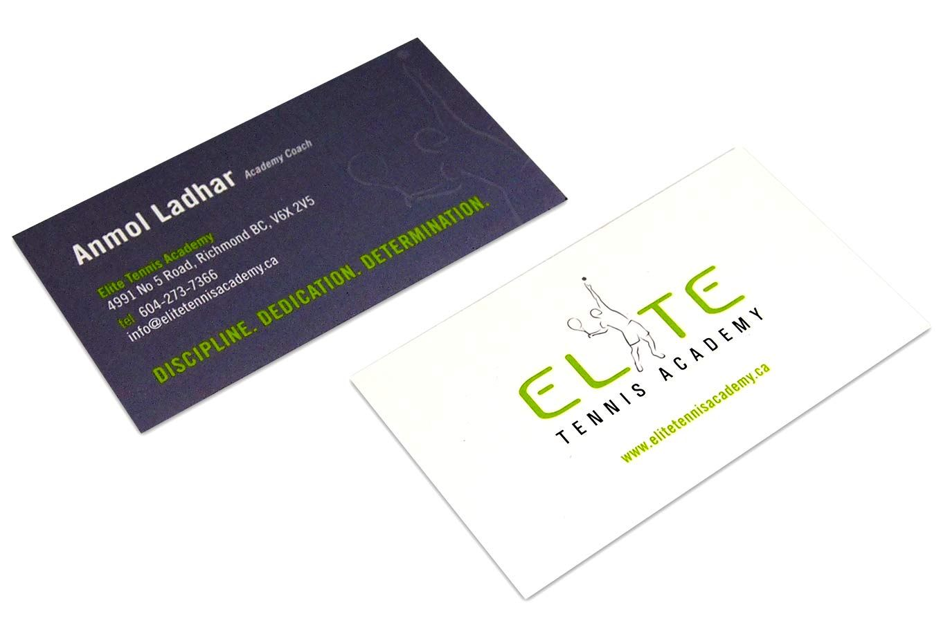 Business card duo for Elite Tennis Academy by Inkykiss. | Beautiful ...