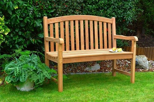 Admirable Winchester Teak Single Oval Garden Bench 2 Seater 1 2M Gmtry Best Dining Table And Chair Ideas Images Gmtryco