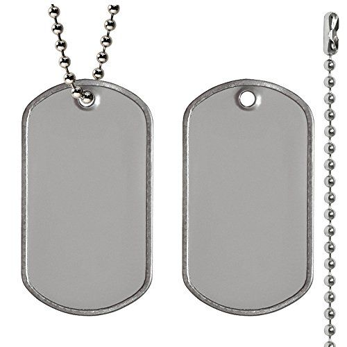 Amazon Com Military Dog Tags Matte Finish With 30 Inch Nickel Plated Steel Ball Chains 25 Each Arts Crafts Sewing Dog Tags Military Dog Tags Ball Chain