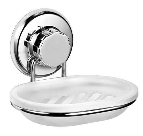 Vacuum Suction Cup Soap Dish Holder By Hasko Accessories Strong