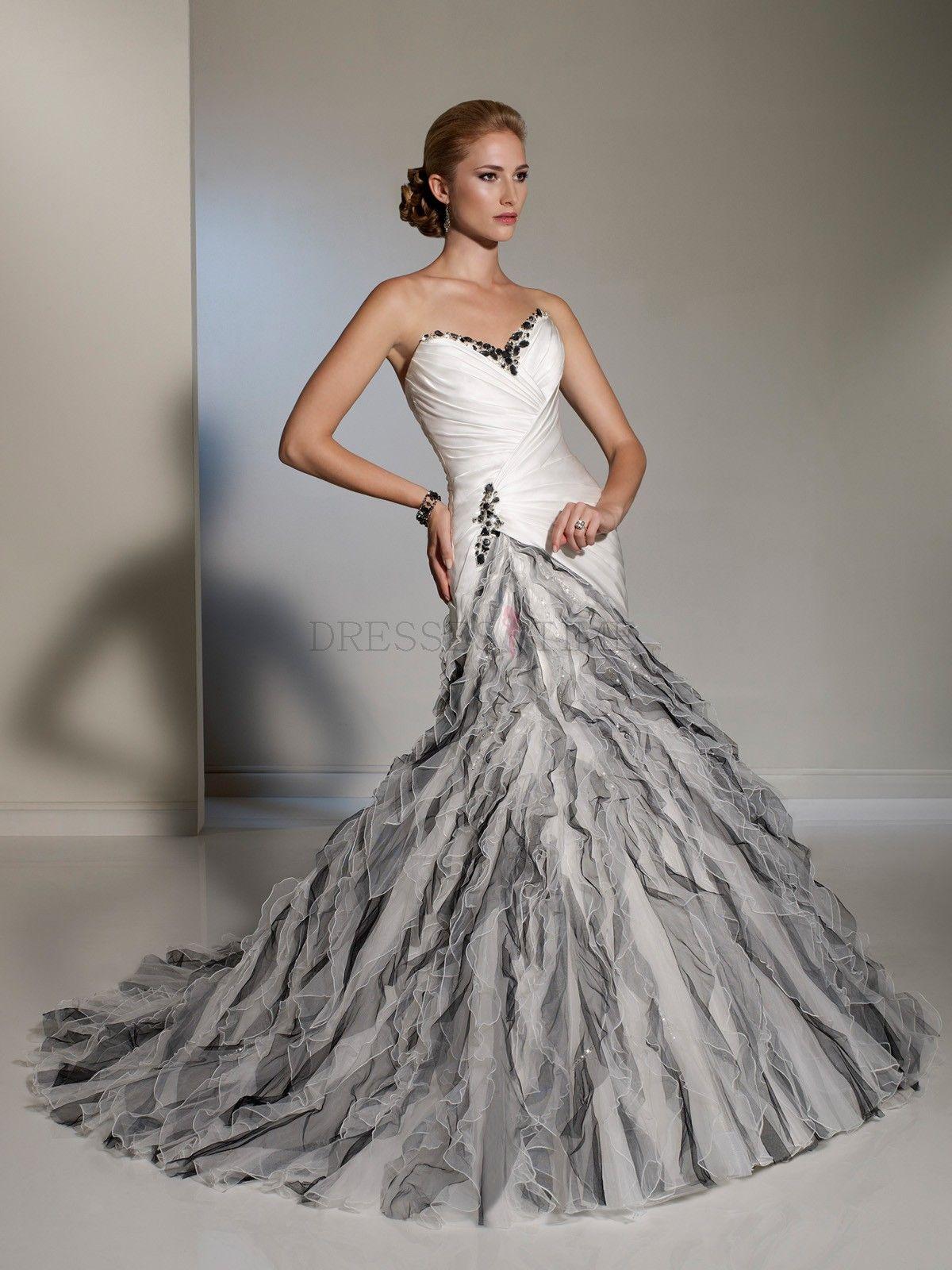 Lace Wedding Dresses Dress: Black Ruffled Wedding Dresses At Websimilar.org