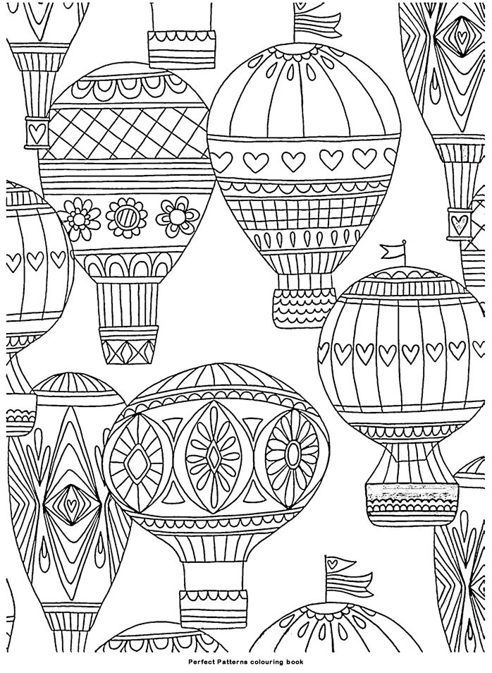Coloring Pages For Grown Ups Coloriage Mongolfieres