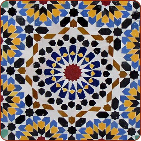 Moroccan Mosaic Tile Table Fountain