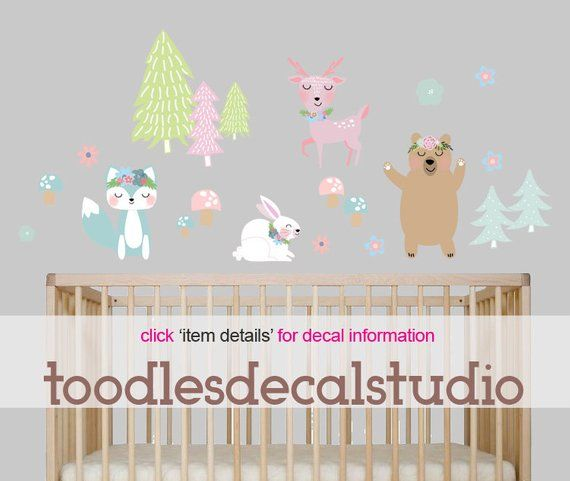 Forest Friends Fabric Wall Decal Products Decals