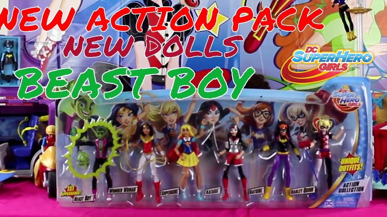 Dc Superhero Girls Action Figure Pack With Beast Boy New 2017