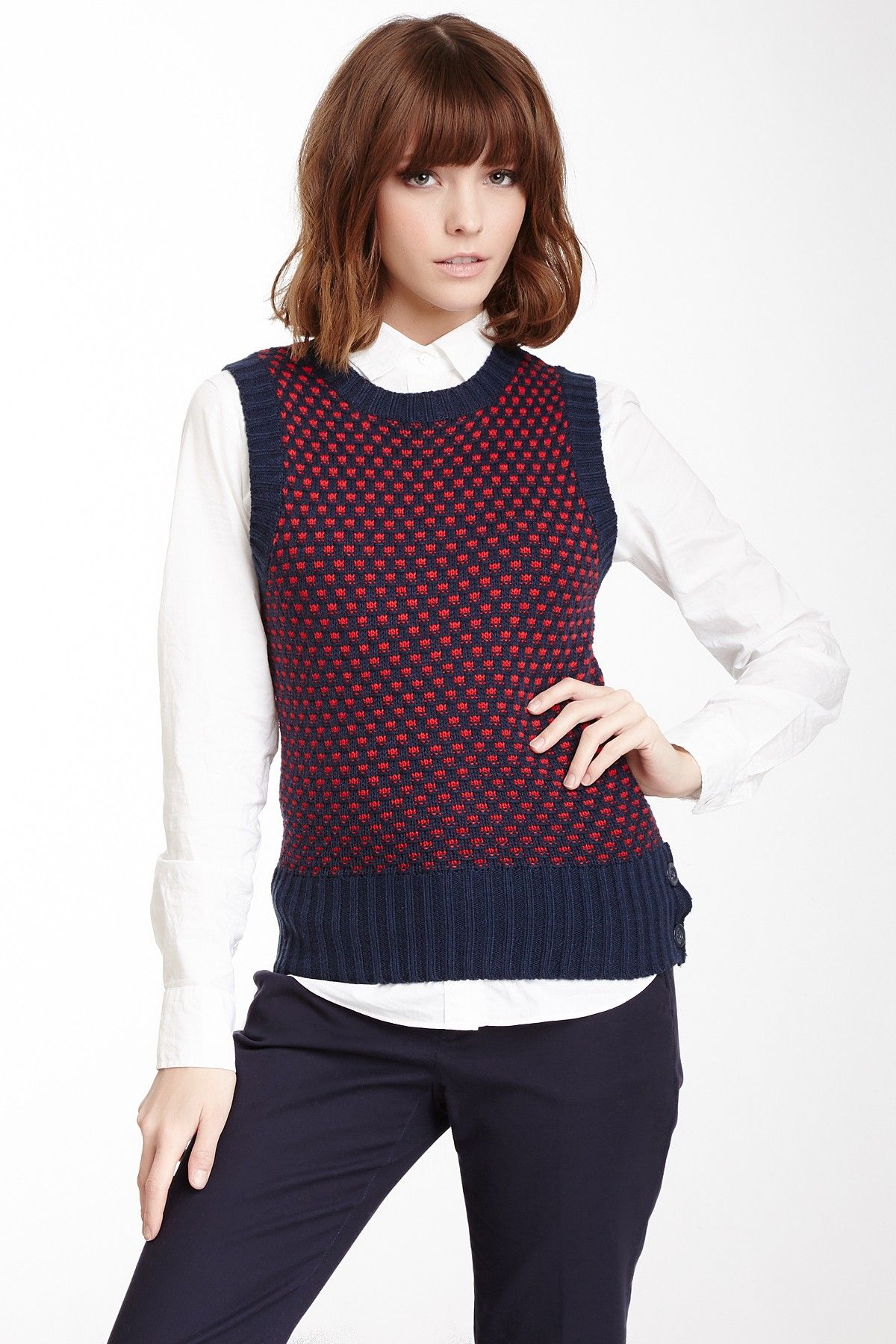 Tulle Crew Neck Patterned Sweater Vest | Clothing and Style ...