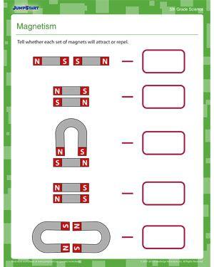 Magnetism Science Worksheet On Magnetism For 5th Grade Science Worksheets Kindergarten Worksheets Free Science Worksheets Magnets kindergarten worksheet