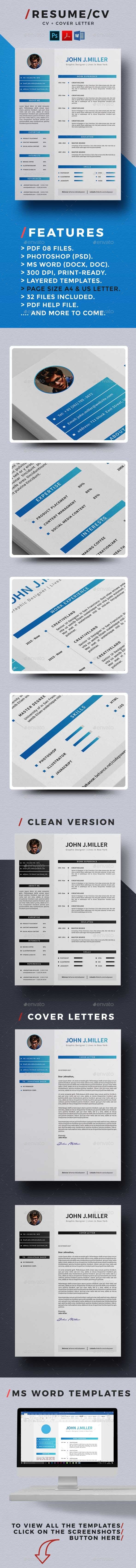 resume template resume cv and cv template