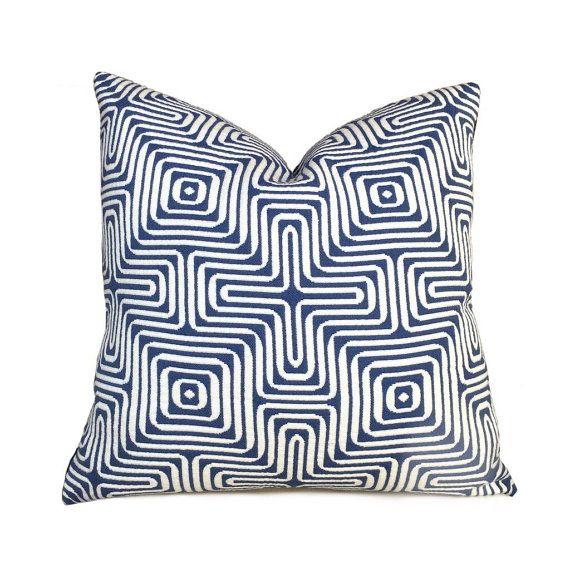 Brilliant Trina Turk Schumacher Amazing Maze Blue White Geometric Uwap Interior Chair Design Uwaporg