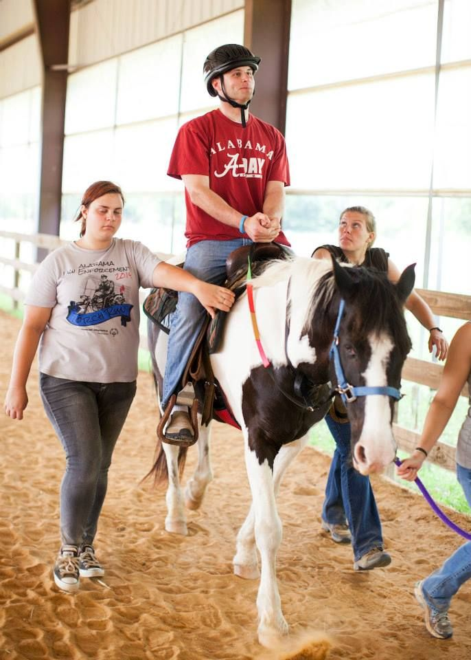 Some riders have periods of avoidance or are unable to interact with the horse or volunteers but they benefit from the horseback riding anyway.