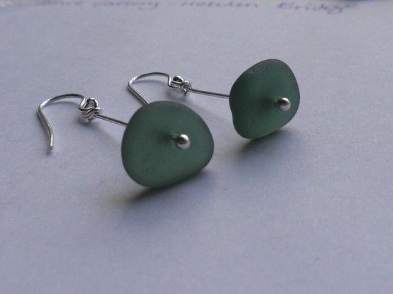 english sea glass earrings by gardeniajewels on Etsy, $26.00