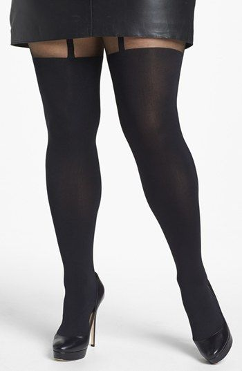 f8b1a6218 plus size suspender tights. Pretty Polly  Curves ...