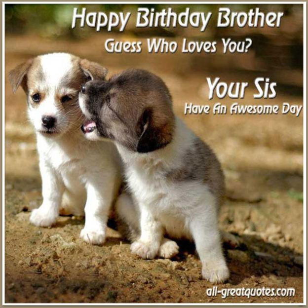 Happy Birthday To A Brother Who Has The Best Sister In The World Happy Birthday Brother Funny Birthday Brother Funny Funny Birthday Meme