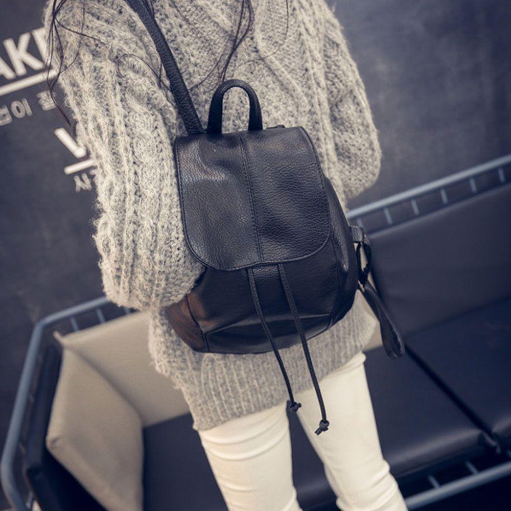 Women's Backpack Leather Satchel Shoulder School Rucksack Bag Ladies Casual Travel Backbacks Bags bolsa feminina High Quality