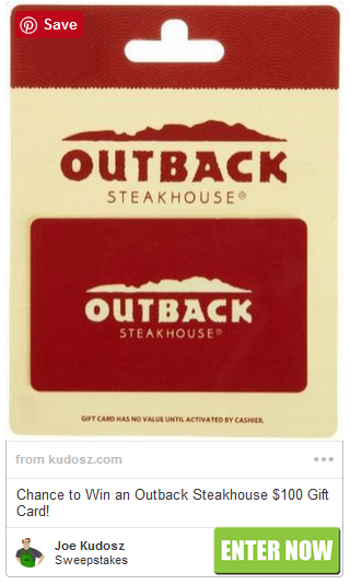 Outback Steakhouse Gift Card Sweepstakes Outback Steakhouse Gift Card Deals Gift Card Balance