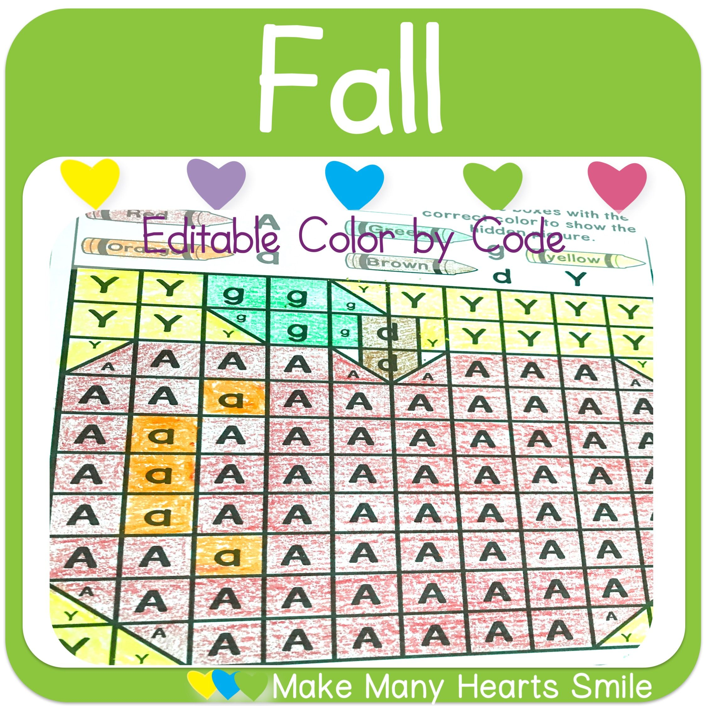 Quick Editable Color By Code Activity That You Can Change
