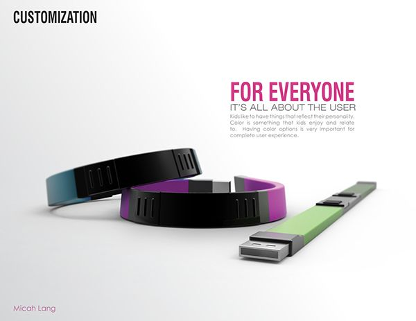 """This was a submission in the 2012 Braun Prize Competition which asked us to """"Design for a Better Everyday"""".  I focused on Childhood Diabetes, a topic very near to my heart and designed the inTouch Bracelet."""