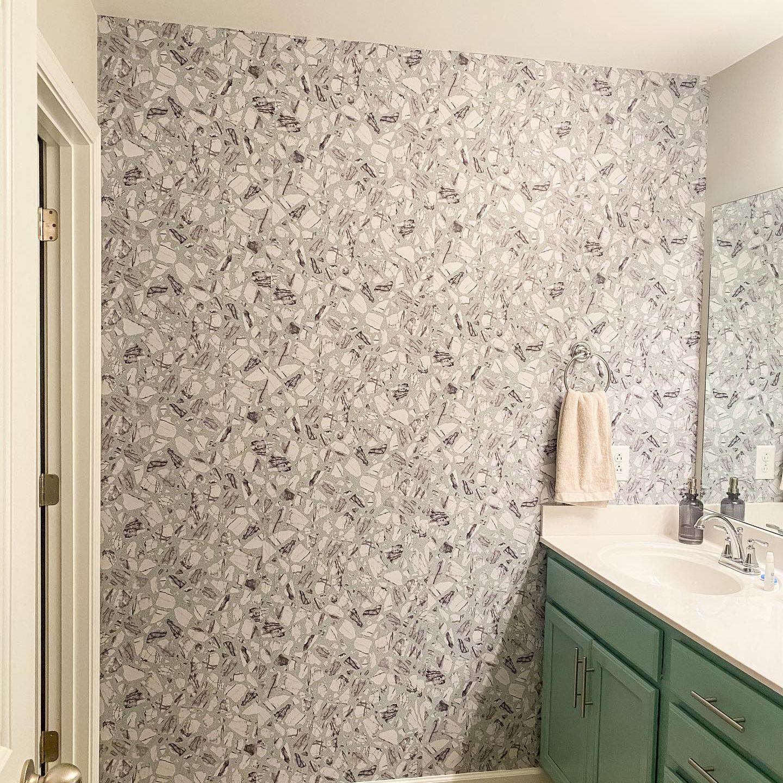 Removable Wallpaper Peel Stick Wallpaper Made In Usa Self Etsy Bathroom Wallpaper Powder Room Wallpaper Bathroom Design