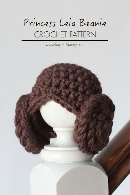 Princess Leia Inspired Beanie Crochet Pattern Hopeful Honey Crochet Hats Star Wars Crochet Halloween Crochet