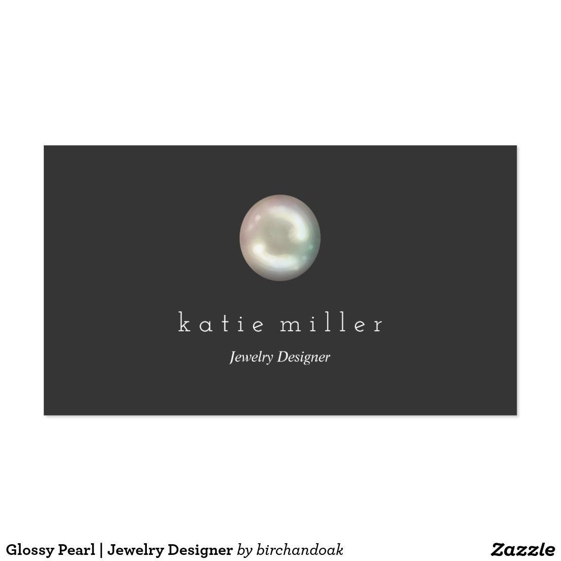 Glossy Pearl | Jewelry Designer Business Card | Business Cards ...