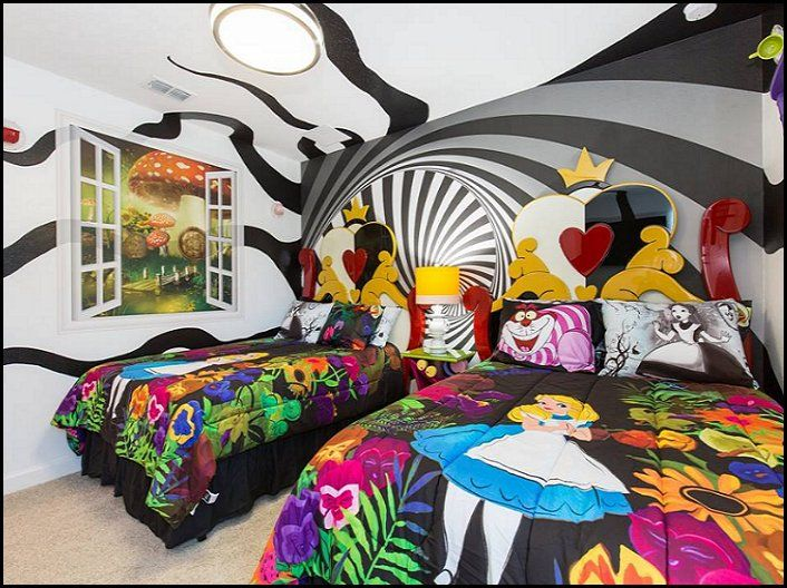 Alice in Wonderland bedroom decor Alice in wonderland themed rooms