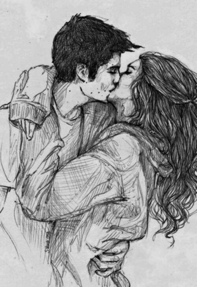 Couple kiss Drawing